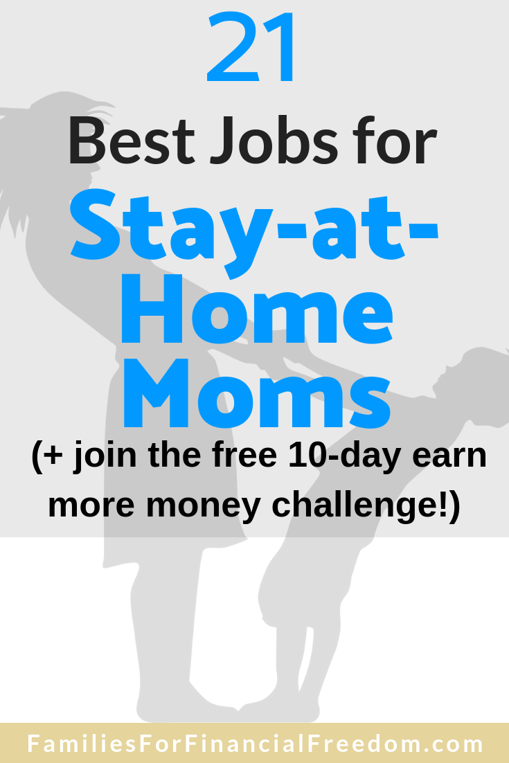 best jobs for stay-at-home moms