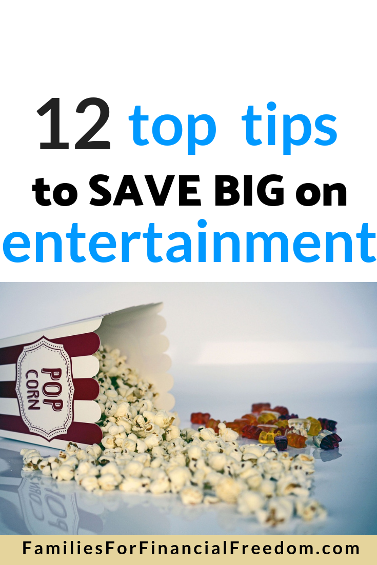how to save money on entertainment