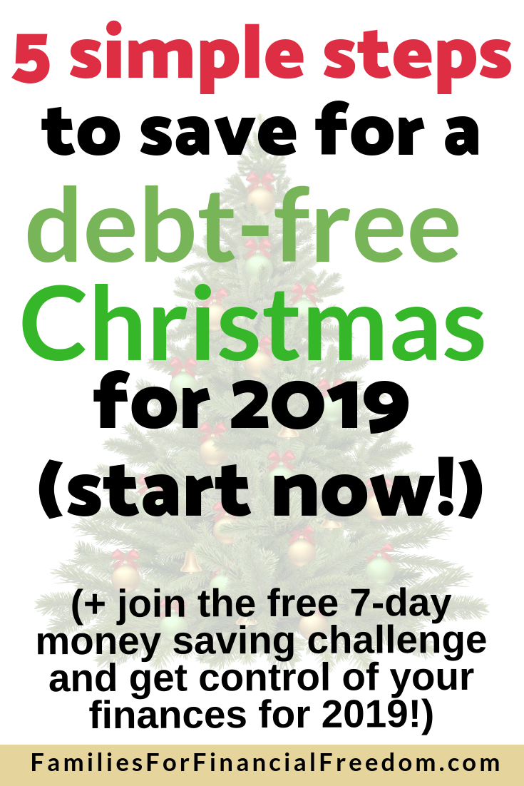 how to save money for debt-free Christmas throughout the year