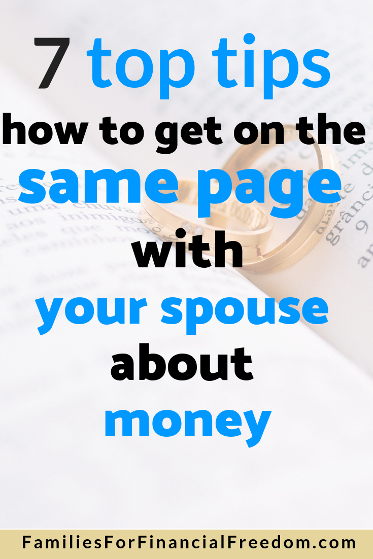 how to get on the same page with your spouse about money