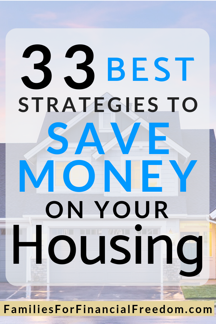 how to save money on housing