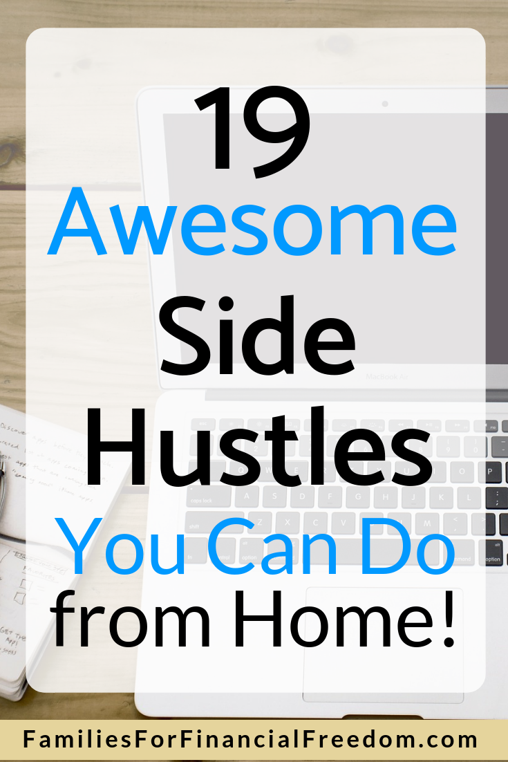 side jobs or side hustles you can do from home