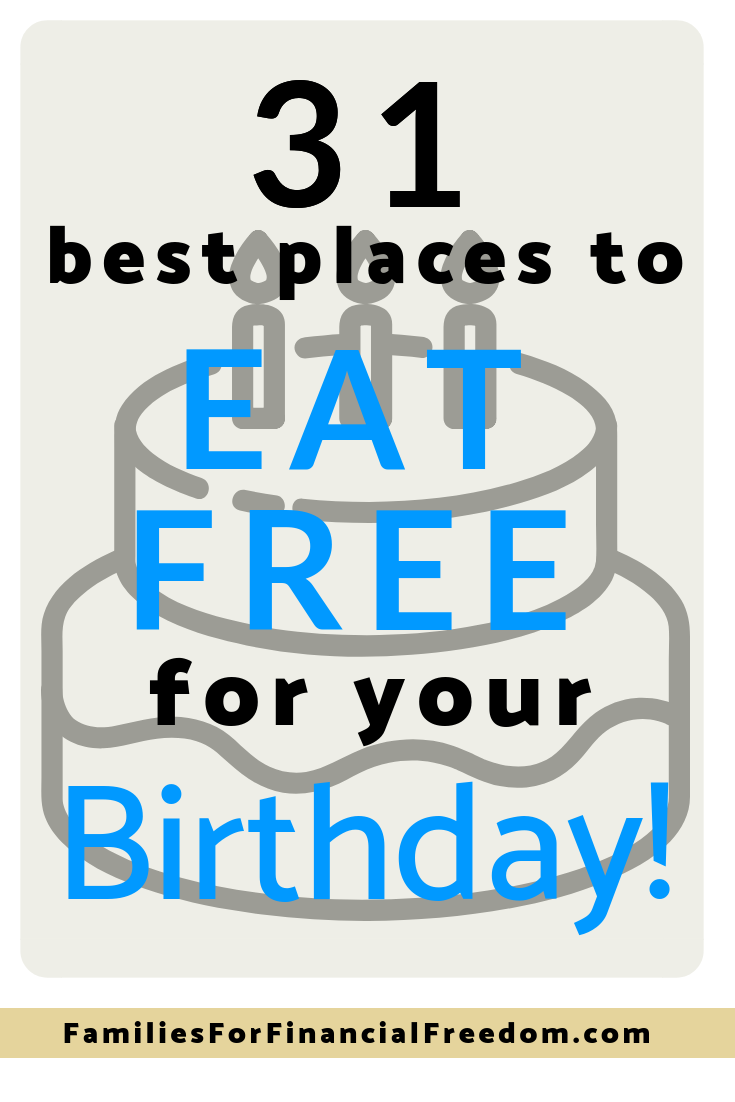 best places to eat free to save money for your birthday