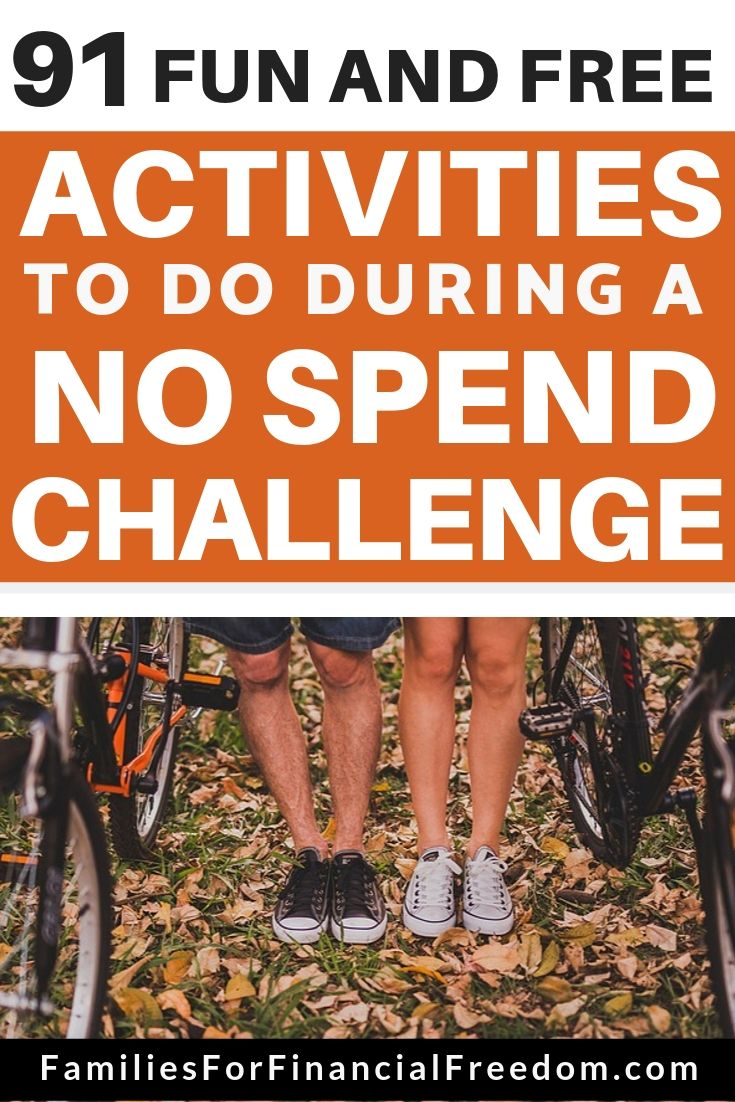 things to do during no spend challenge