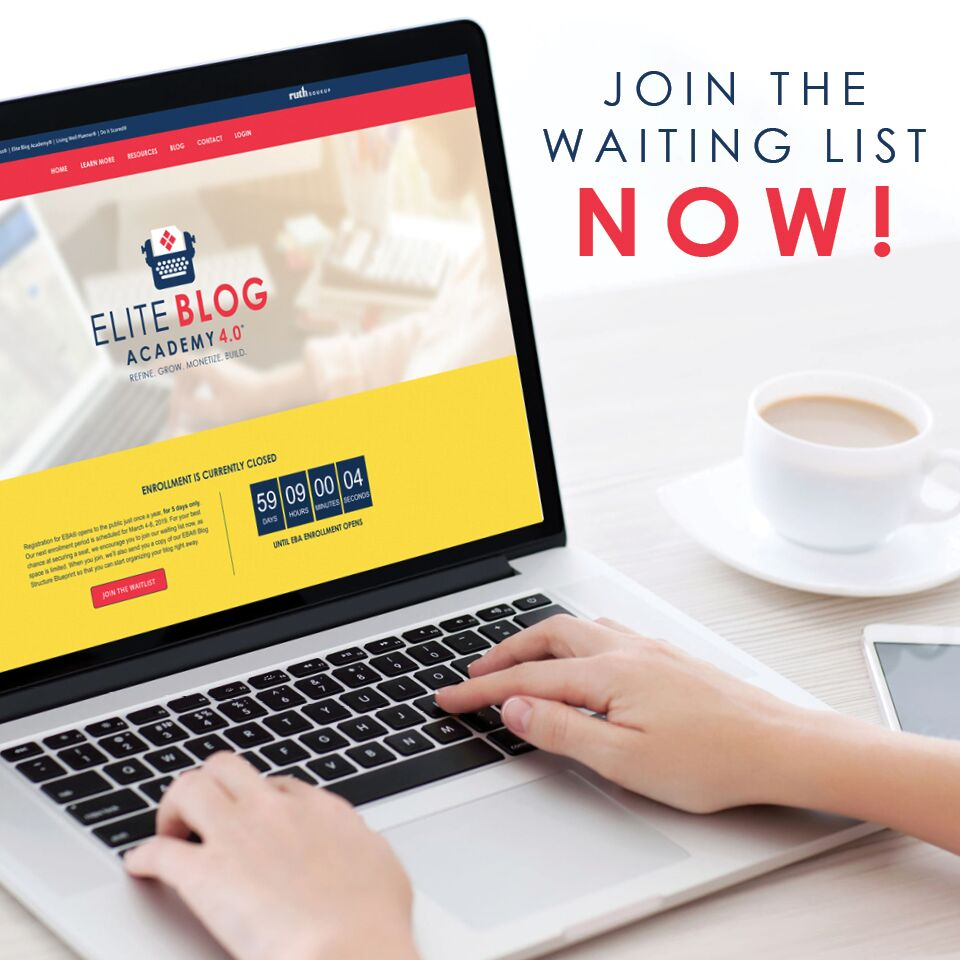 Sign up for the Elite Blog Academy wait list!
