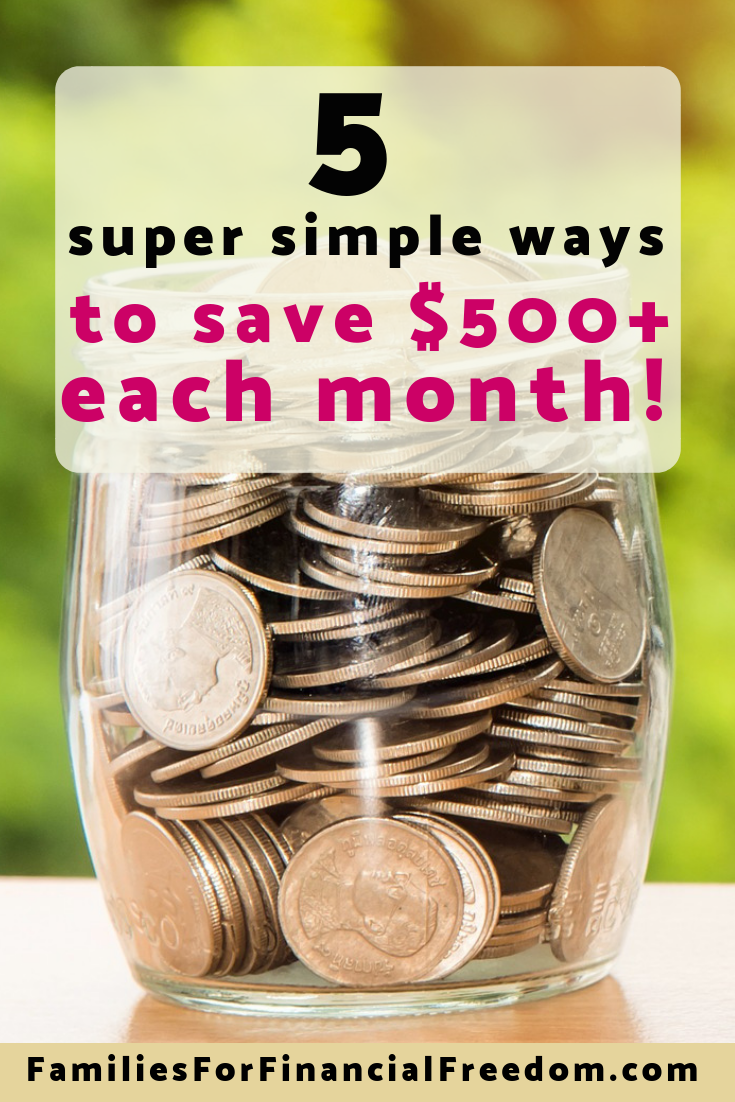 Learn 5 simple tips for how to save money from salary each month! These 5 must-know tips will help you to save $500 or more per month from your salary!