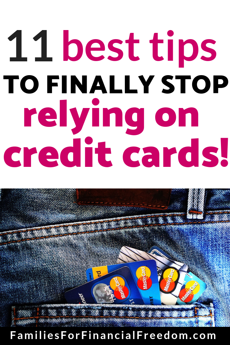 how to stop using credit cards