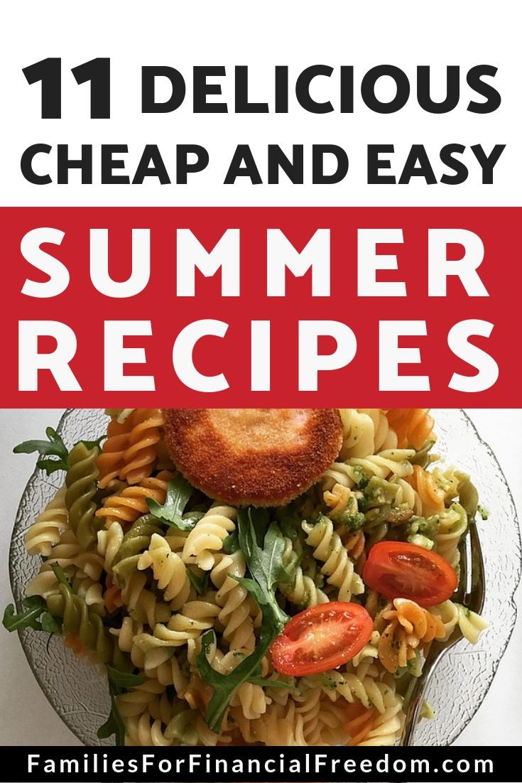 cheap summer recipes