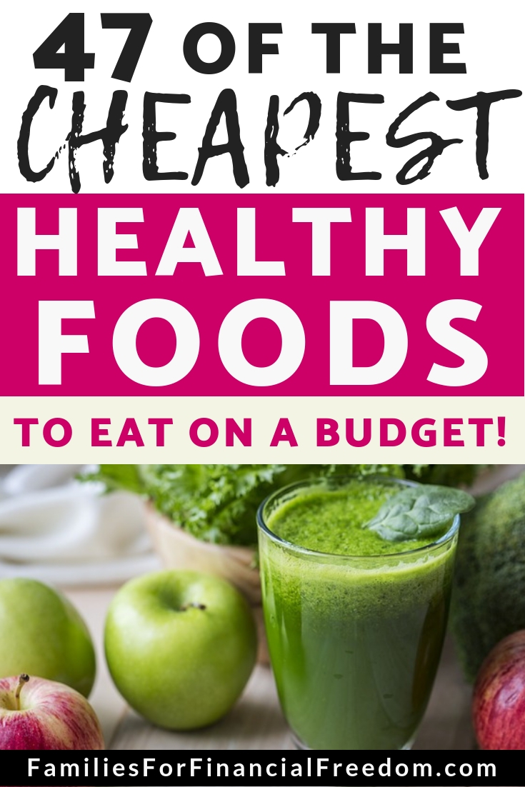 cheapest healthy foods