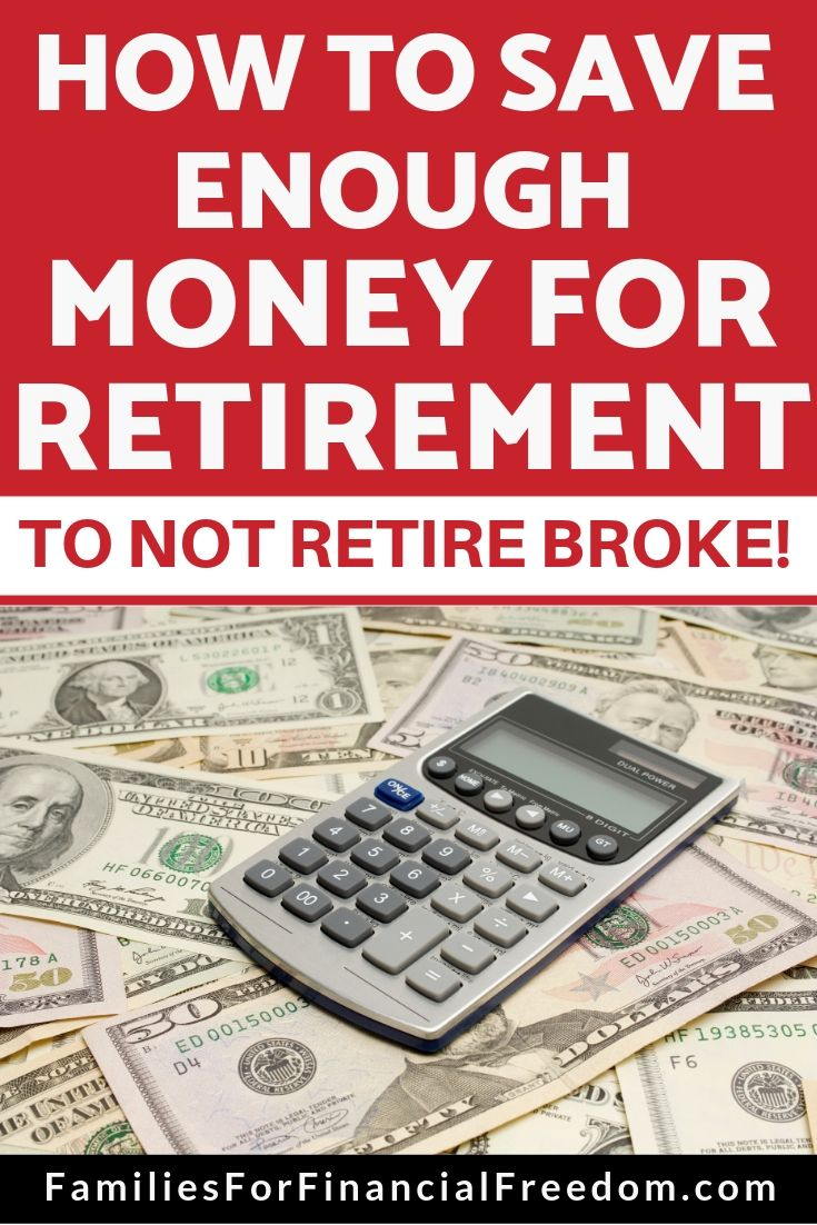 how to save enough  money for retirement