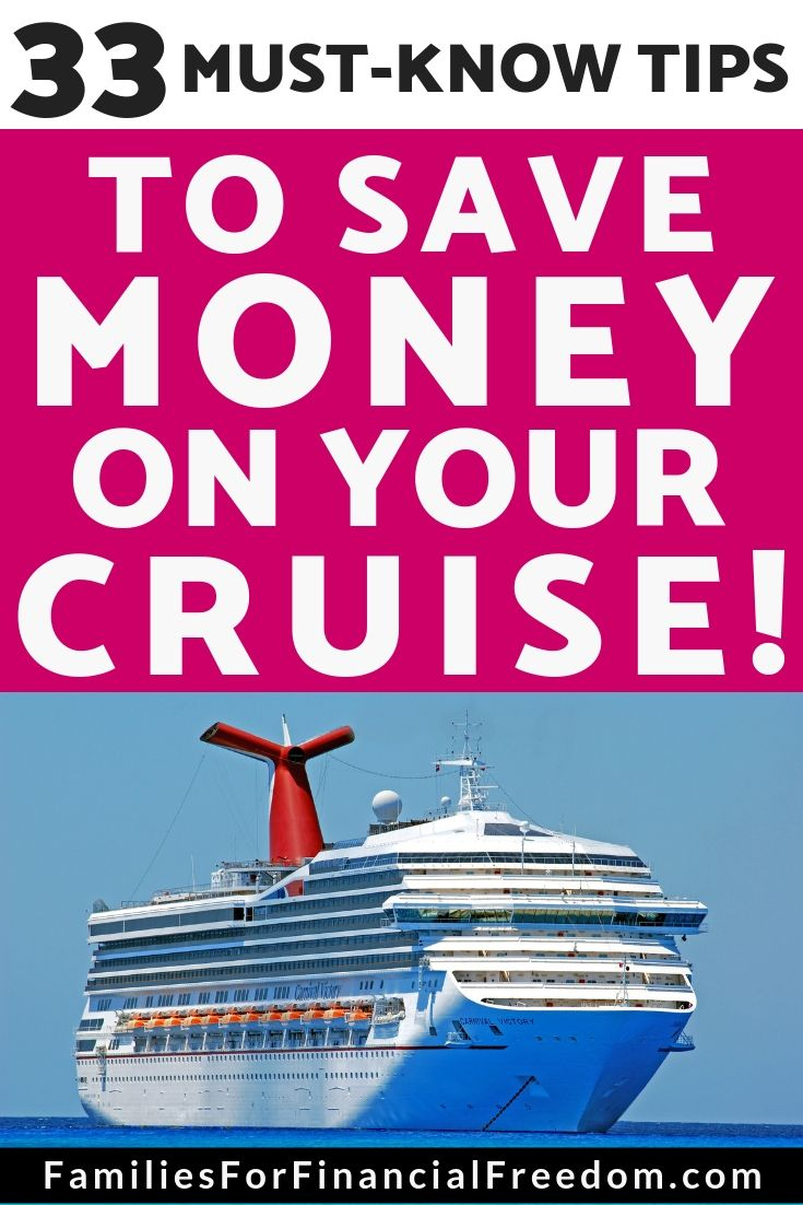 How To Save Money On A Cruise 33 Must Know Tips