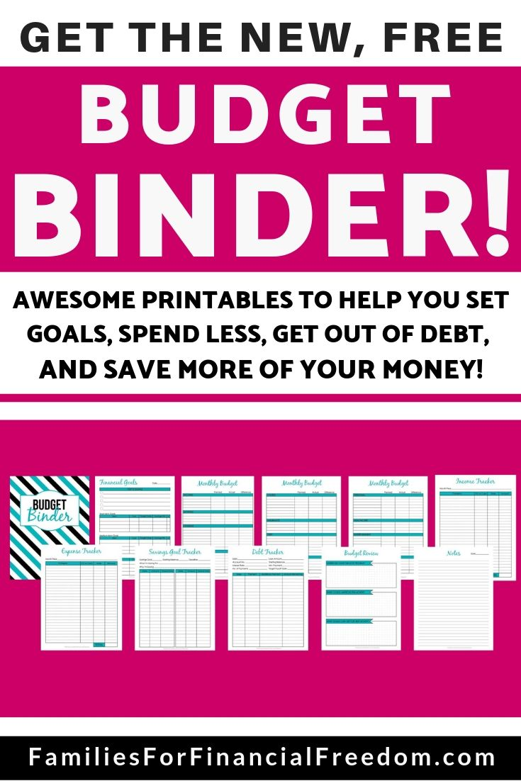 picture relating to Free Binder Printables named Take the Fresh, Absolutely free Price range Binder Printables toward Support Your self Choose