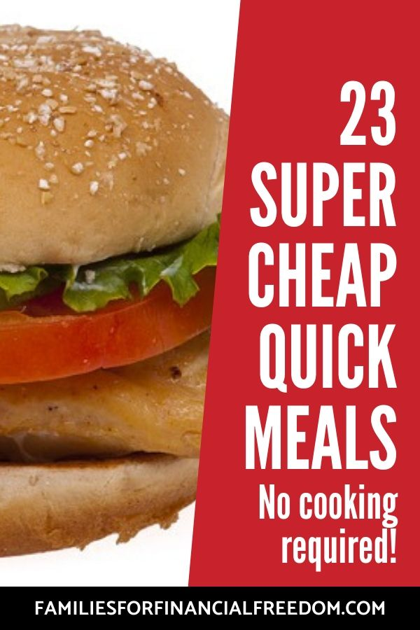 cheap quick meals