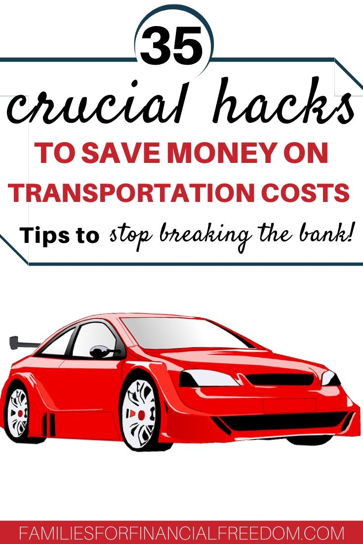 how to save money on transportation