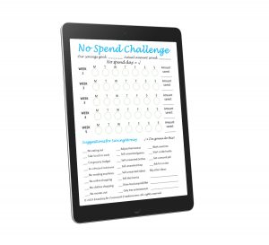 no spend challenge printable