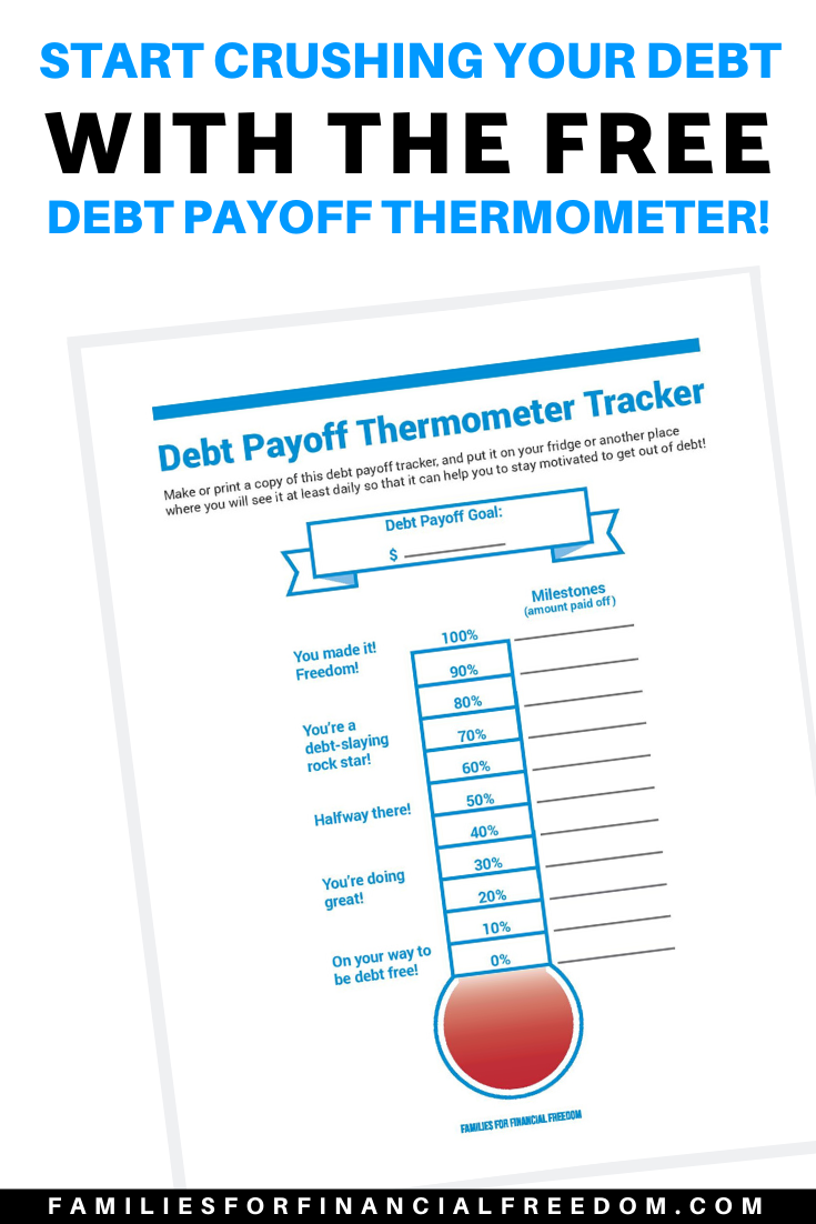 debt payoff tracker printable