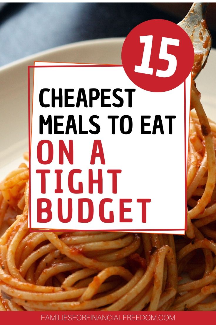 cheapest meals