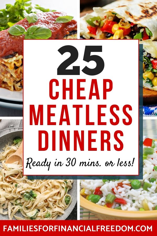 meatless dinner ideas