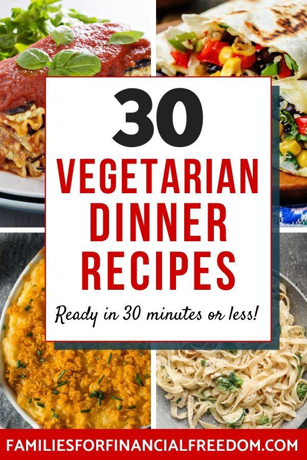 vegetarian recipes for dinner