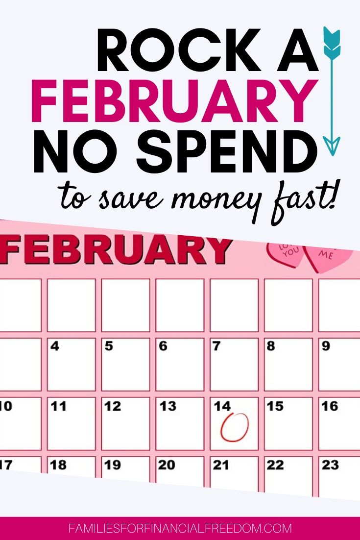 February no spend challenge to save money