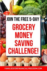 join free grocery money saving challenge
