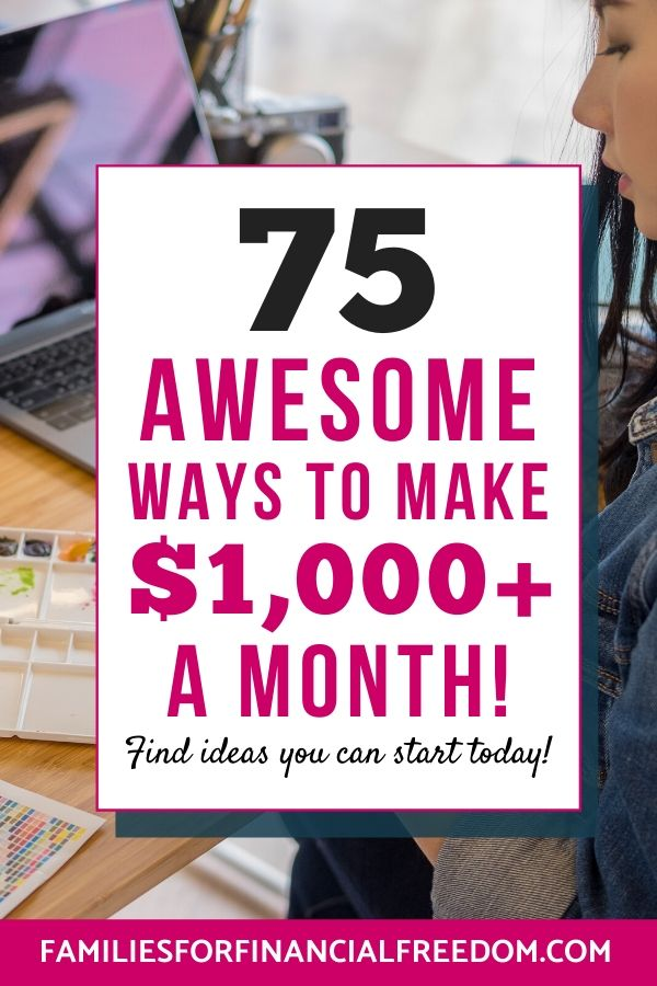 how to make $1,000 extra a month