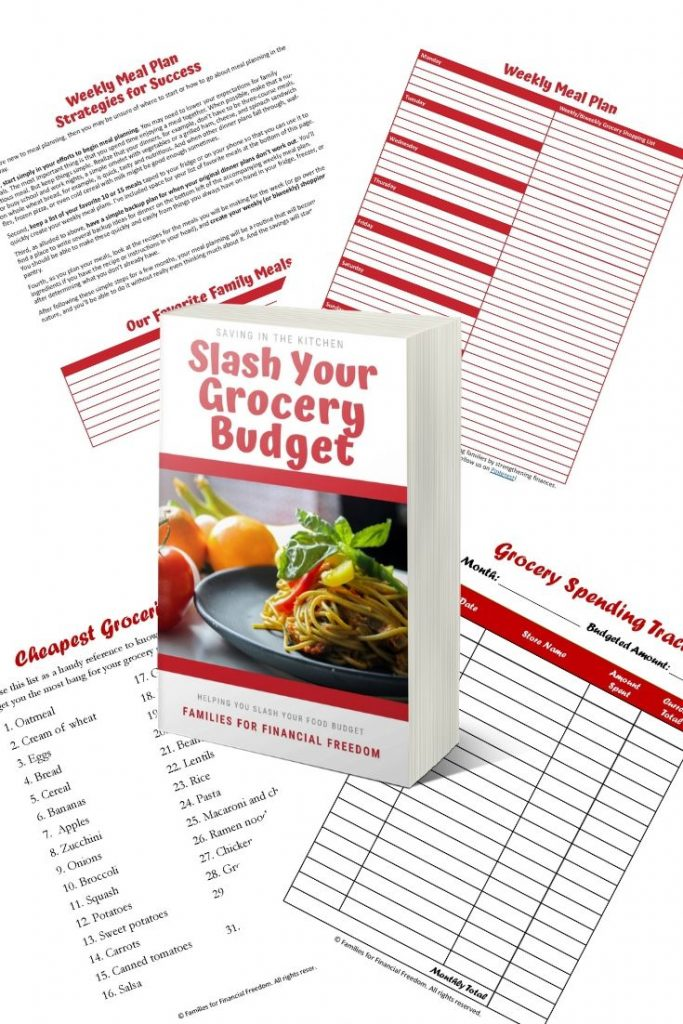 Slash Your Grocery Budget ebook and bonus printables