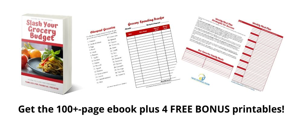 Slash Your Grocery Budget ebook + printables
