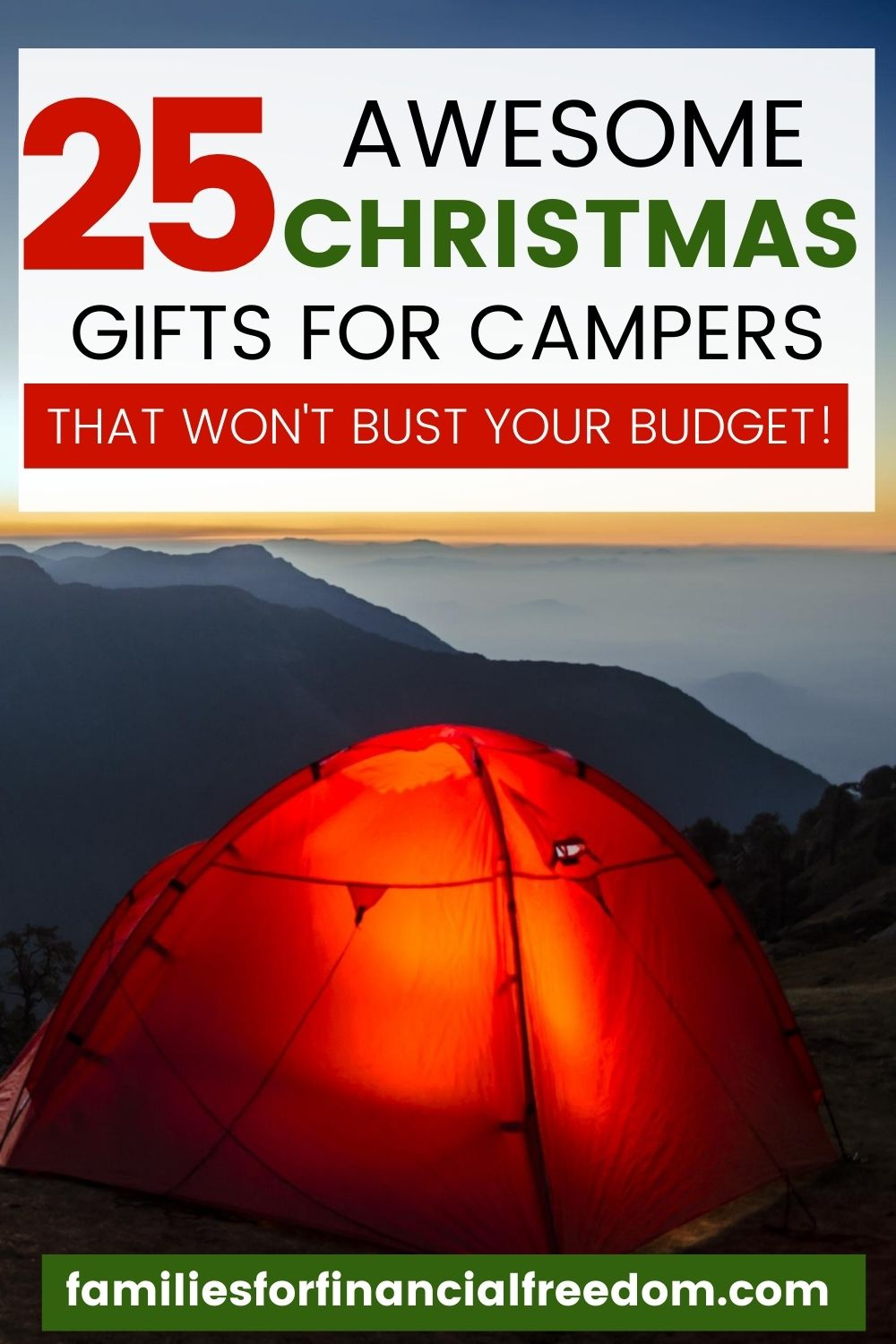 25 Best Christmas Gift Ideas For Outdoor Enthusiasts And Campers Families For Financial Freedom