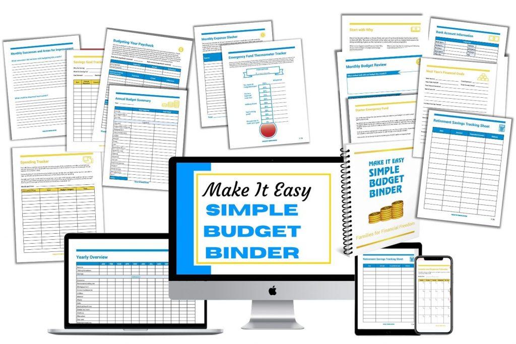Simple Budget Binder mockup