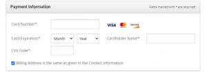 start a blog--payment info
