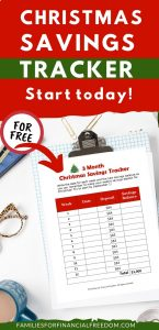free Christmas Savings Tracker printables