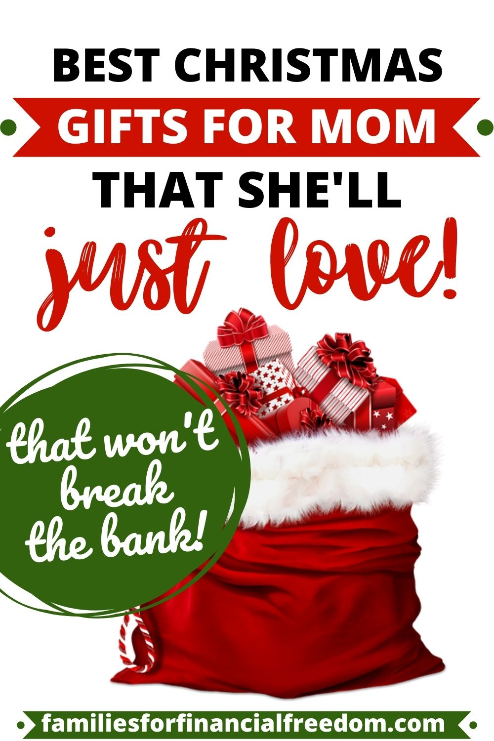 20 Perfect Christmas Gift Ideas For Mom Families For Financial Freedom