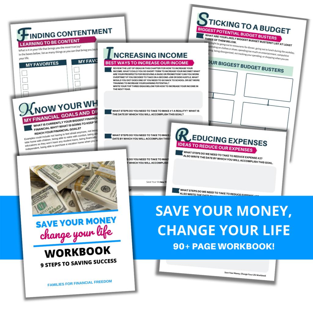 Save Your Money workbook